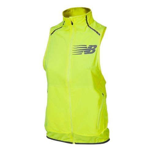 Womens New Balance Hi Viz Beacon Running Vests - Hi-Lite XL