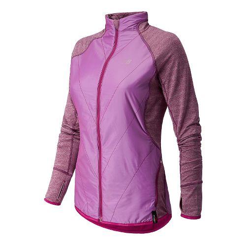 Womens New Balance Chameleon Running Jackets - Mullberry S