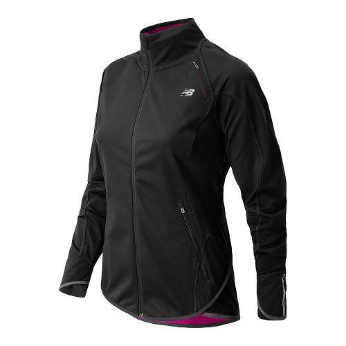 Womens New Balance Windblocker Running Jackets - Black XS