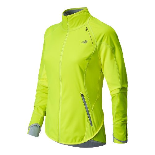 Womens New Balance Windblocker Running Jackets - Hi-Lite M