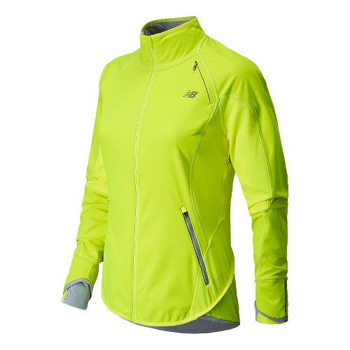 Womens New Balance Windblocker Running Jackets - Hi-Lite XL