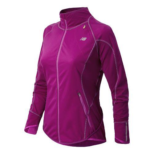 Womens New Balance Windblocker Running Jackets - Mullberry L