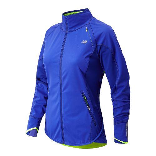 Womens New Balance Windblocker Running Jackets - UV Blue L