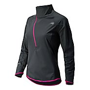 Womens New Balance Windblocker Long Sleeve 1/2 Zip Technical Tops