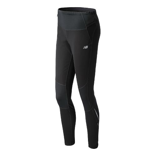 Womens New Balance Windblocker Fitted Tights - Black L