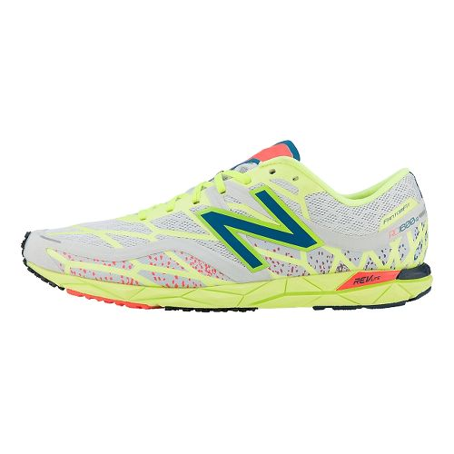 Mens New Balance RC1600v2 Cross Country Shoe - Grey/Yellow 6.5