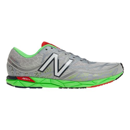 Mens New Balance RC1600v2 Cross Country Shoe - Silver/Green 11.5