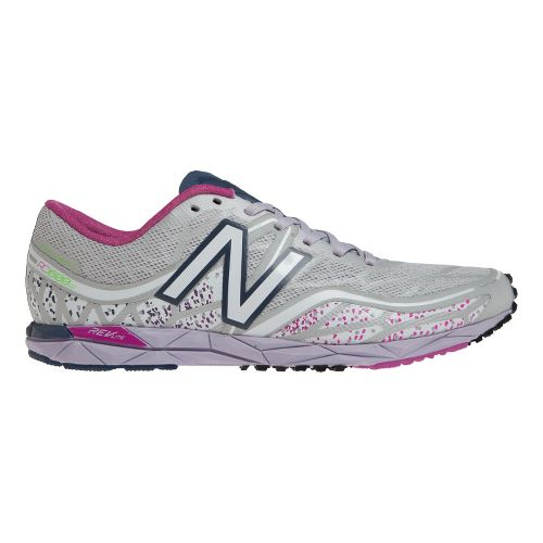 Womens New Balance RC1600v2 Cross Country Shoe - Silver/Pink 7.5