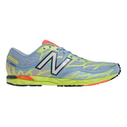 Womens New Balance RC1600v2 Cross Country Shoe - Silver/Yellow 7.5