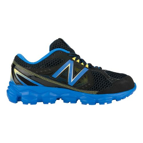 Kids New Balance Kids 750v3 Y Running Shoe - Black/Blue 6