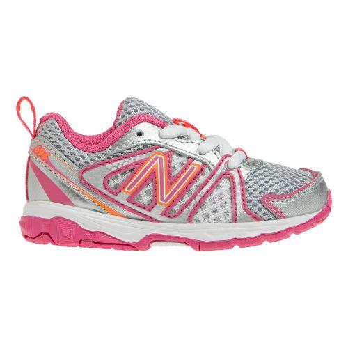 Kids New Balance Kids 696 I Running Shoe - Pink/Orange 7.5