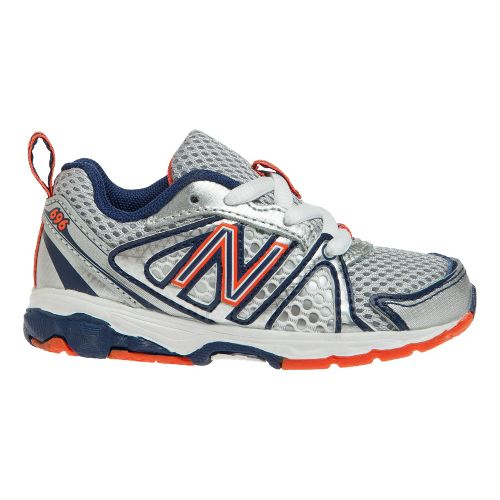 Kids New Balance Kids 696 I Running Shoe - White/Vision Blue 7.5