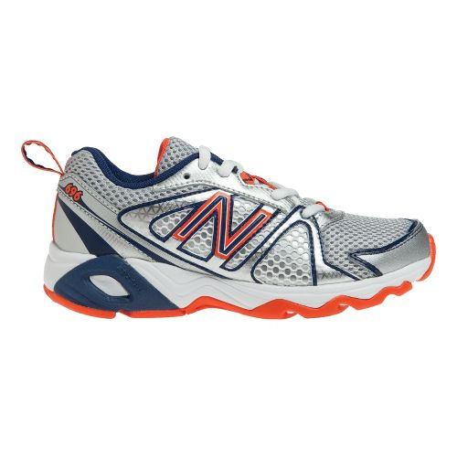 Kids New Balance Kids 696 Y Running Shoe - White/Vision Blue 3