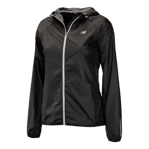 Womens New Balance Shadow Run Running Jackets - Black L