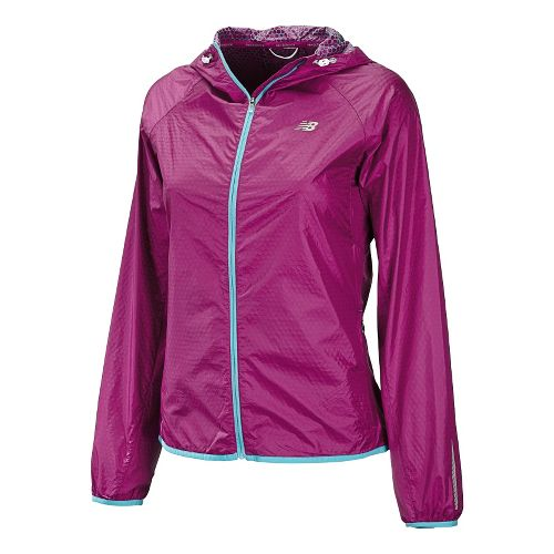 Womens New Balance Shadow Run Running Jackets - Poisonberry M