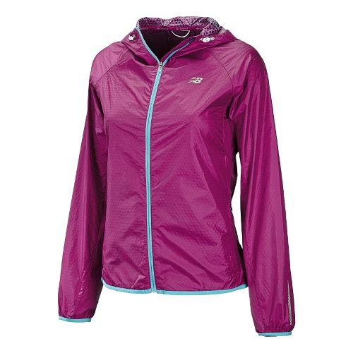 Womens New Balance Shadow Run Running Jackets - Poisonberry XL