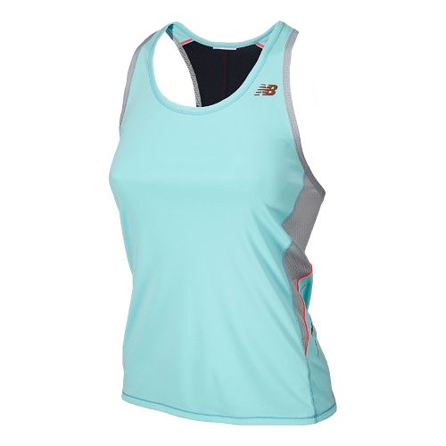 Womens New Balance NB Ice Racerback Tanks Technical Tops - Glacier M