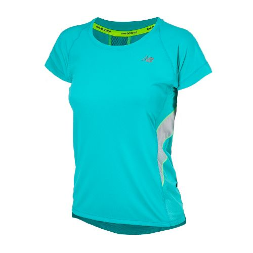 Womens New Balance NB Ice Short Sleeve Technical Tops - Paradise XS