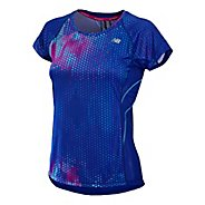 Womens New Balance NB Ice Print Short Sleeve Technical Tops