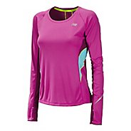 Womens New Balance NB Ice Long Sleeve No Zip Technical Tops