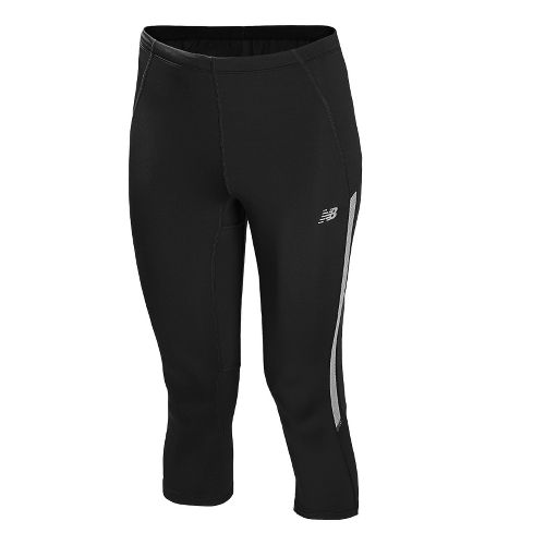 Womens New Balance Impact Capri Tights - Black XS