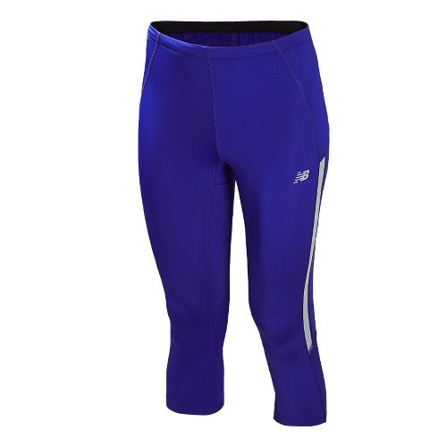 Womens New Balance Impact Capri Tights - UV Blue XXL
