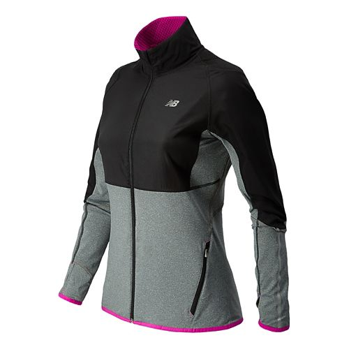 Womens New Balance Raptor Running Jackets - Anthracite L