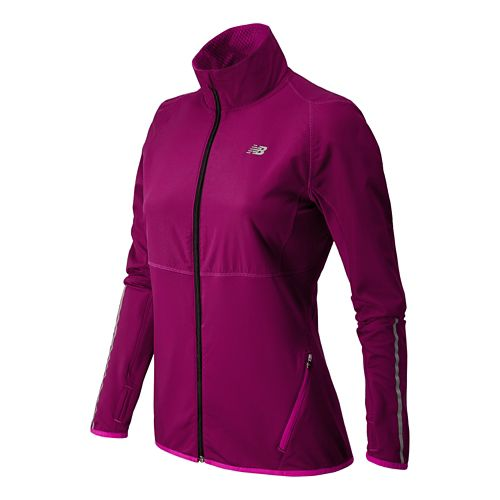 Womens New Balance Raptor Running Jackets - Mullberry L
