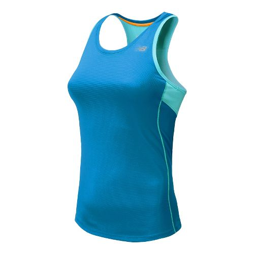 Womens New Balance Accelerate Tank Technical Top - Wave Blue M