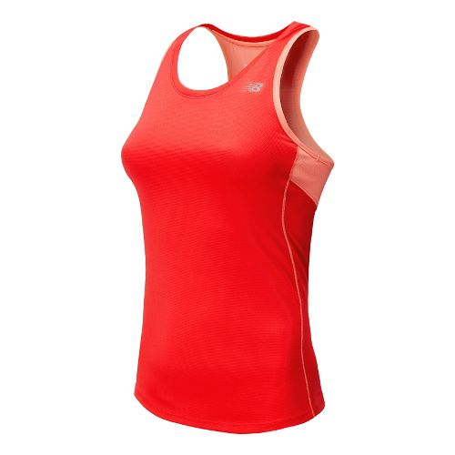 Womens New Balance Accelerate Tank Technical Top - Bright Cherry S