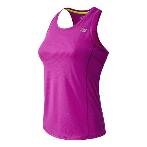 Womens New Balance Accelerate Tanks Technical Tops - Poisonberry M
