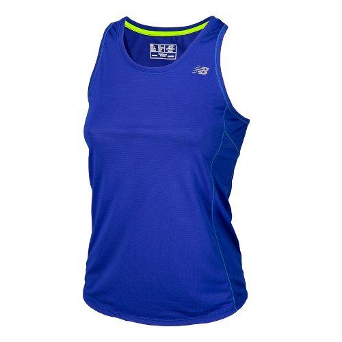Womens New Balance Accelerate Tanks Technical Tops - UV Blue L