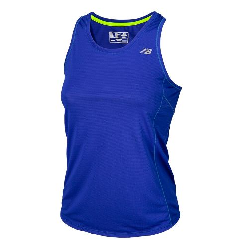 Womens New Balance Accelerate Tanks Technical Tops - UV Blue S