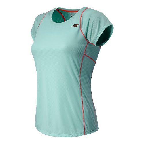 Womens New Balance Accelerate Short Sleeve Technical Tops - Glacier XL