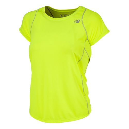 Womens New Balance Accelerate Short Sleeve Technical Tops - Hi-Lite M