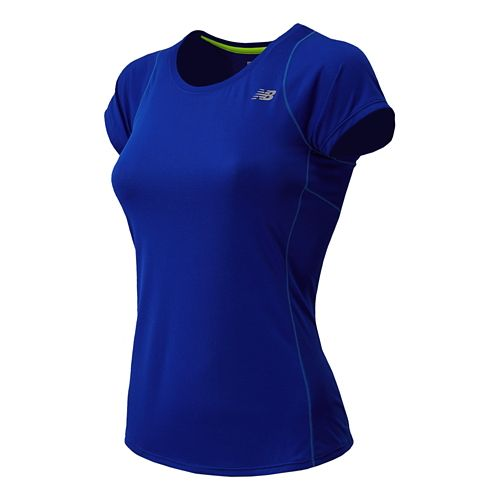 Womens New Balance Accelerate Short Sleeve Technical Top - UV Blue S