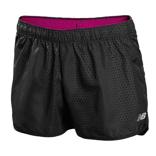 Womens New Balance Accelerate Printed Unlined Shorts - Anthracite L