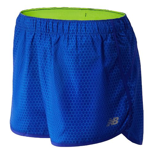 Womens New Balance Accelerate Printed Unlined Shorts - UV Blue XS
