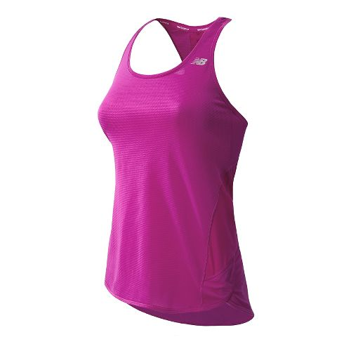 Womens New Balance Tonic Tunic Tanks Technical Tops - Poisonberry M