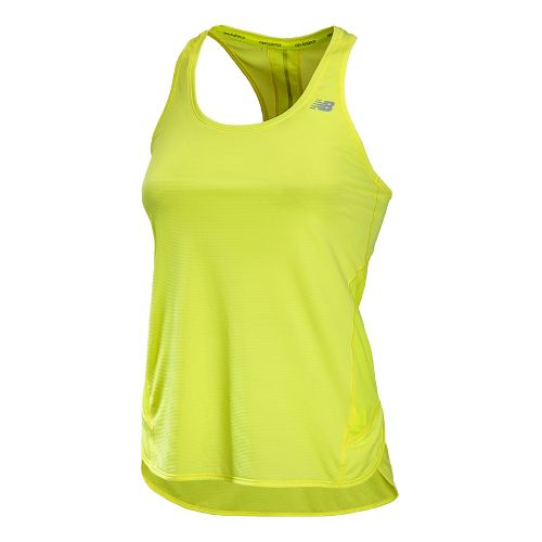 Womens New Balance Tonic Tunic Tanks Technical Tops - Solar Yellow S