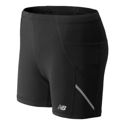 Womens New Balance Go 2 4 Fitted Shorts - Black XS