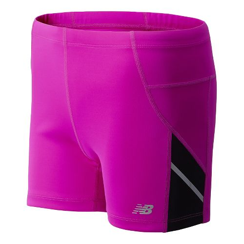 Womens New Balance Go 2 4 Fitted Shorts - Poisonberry XS