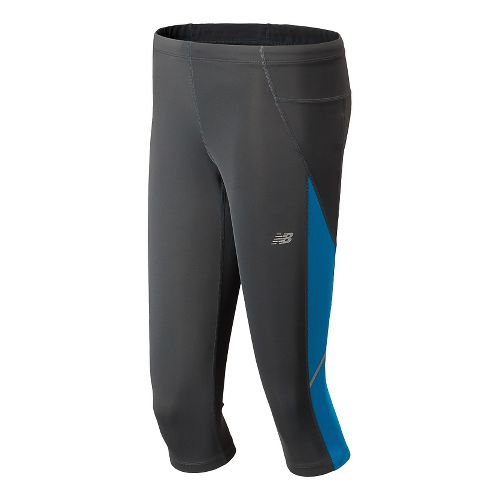 Womens New Balance Go 2 Capri Tights - Wave Blue L
