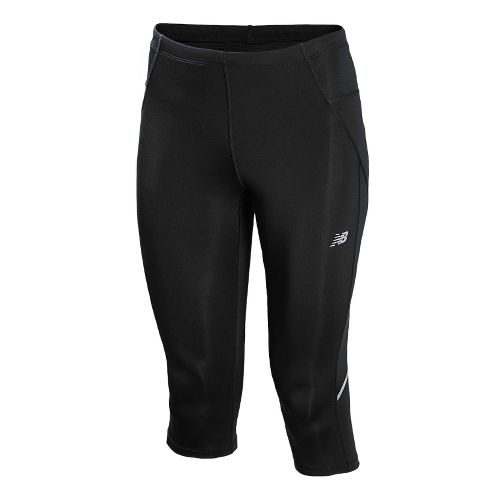 Womens New Balance Go 2 Capri Tights - Black L