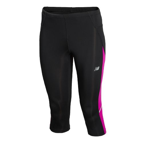 Womens New Balance Go 2 Capri Tights - Poisonberry M