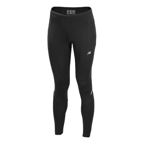 Womens New Balance Go2 Fitted Tights - Black XS