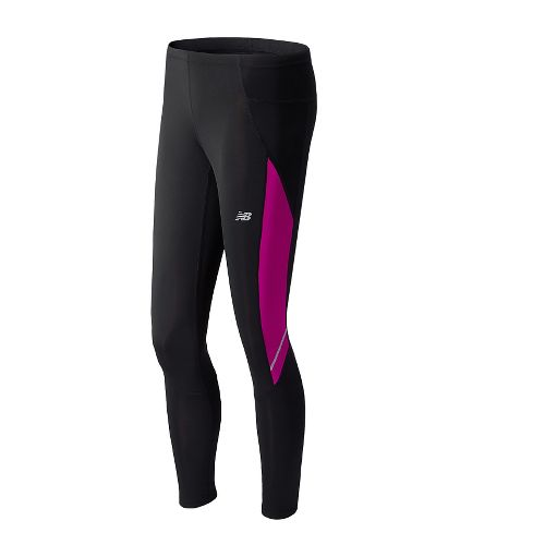 Womens New Balance Go2 Fitted Tights - Poisonberry L