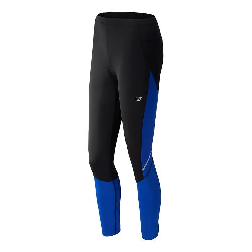 Womens New Balance Go2 Fitted Tights - UV Blue L