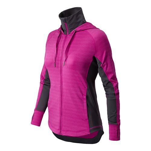 Womens New Balance Achieve Running Jackets - Poisonberry XS