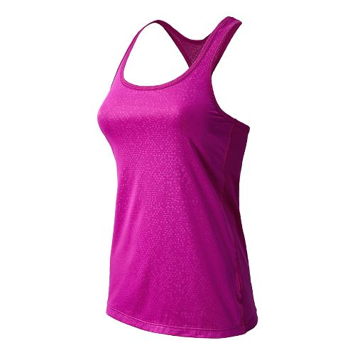 Womens New Balance Vitalize Layer Tanks Technical Tops - Poisonberry L